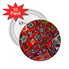 Carpet Orient Pattern 2 25  Buttons (10 Pack)