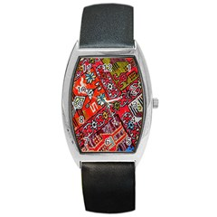 Carpet Orient Pattern Barrel Style Metal Watch