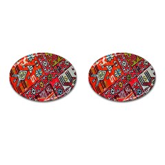 Carpet Orient Pattern Cufflinks (oval)