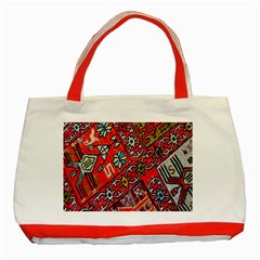 Carpet Orient Pattern Classic Tote Bag (red)