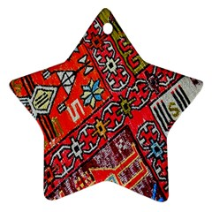 Carpet Orient Pattern Star Ornament (two Sides)