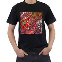 Carpet Orient Pattern Men s T Shirt (black)