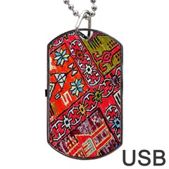 Carpet Orient Pattern Dog Tag Usb Flash (one Side)