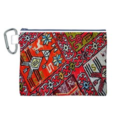 Carpet Orient Pattern Canvas Cosmetic Bag (l)