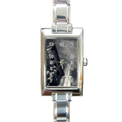 Chicago Skyline Tall Buildings Rectangle Italian Charm Watch