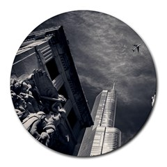 Chicago Skyline Tall Buildings Round Mousepads