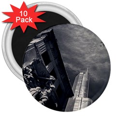 Chicago Skyline Tall Buildings 3  Magnets (10 Pack)
