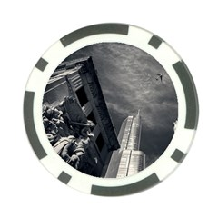 Chicago Skyline Tall Buildings Poker Chip Card Guard