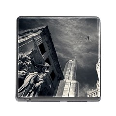 Chicago Skyline Tall Buildings Memory Card Reader (square)