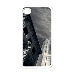 Chicago Skyline Tall Buildings Apple Iphone 4 Case (white)