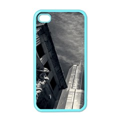 Chicago Skyline Tall Buildings Apple Iphone 4 Case (color)