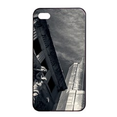 Chicago Skyline Tall Buildings Apple Iphone 4/4s Seamless Case (black)
