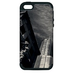 Chicago Skyline Tall Buildings Apple Iphone 5 Hardshell Case (pc+silicone)