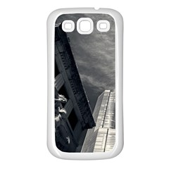 Chicago Skyline Tall Buildings Samsung Galaxy S3 Back Case (white)