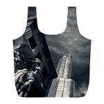 Chicago Skyline Tall Buildings Full Print Recycle Bags (L)  Front