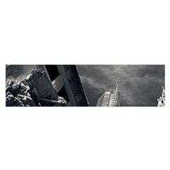 Chicago Skyline Tall Buildings Satin Scarf (oblong)