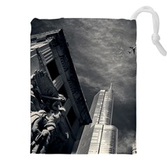 Chicago Skyline Tall Buildings Drawstring Pouches (xxl)