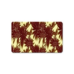 Floral Pattern Background Magnet (name Card)