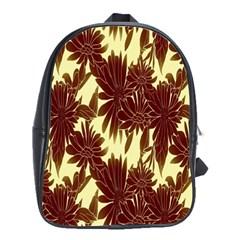 Floral Pattern Background School Bag (large)