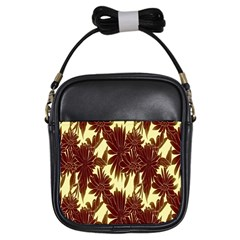 Floral Pattern Background Girls Sling Bags