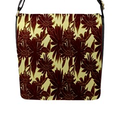 Floral Pattern Background Flap Messenger Bag (l)
