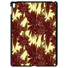 Floral Pattern Background Apple Ipad Pro 9 7   Black Seamless Case
