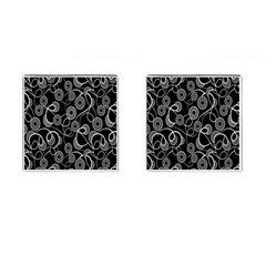 Floral Pattern Background Cufflinks (square)
