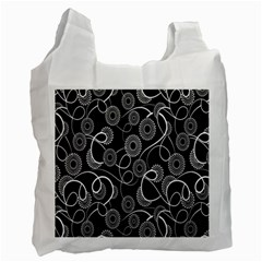 Floral Pattern Background Recycle Bag (one Side)