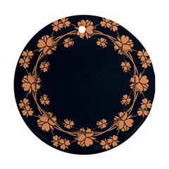 Floral Vintage Royal Frame Pattern Ornament (round)