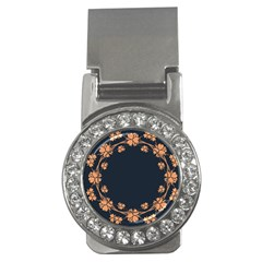 Floral Vintage Royal Frame Pattern Money Clips (cz)