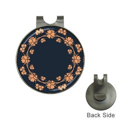 Floral Vintage Royal Frame Pattern Hat Clips With Golf Markers