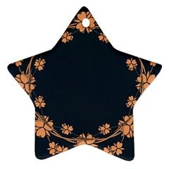 Floral Vintage Royal Frame Pattern Star Ornament (two Sides)