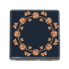 Floral Vintage Royal Frame Pattern Memory Card Reader (square)