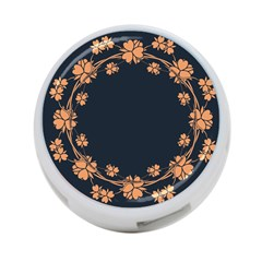 Floral Vintage Royal Frame Pattern 4 Port Usb Hub (two Sides)