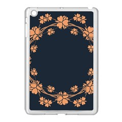 Floral Vintage Royal Frame Pattern Apple Ipad Mini Case (white)