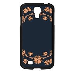 Floral Vintage Royal Frame Pattern Samsung Galaxy S4 I9500/ I9505 Case (black)