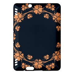 Floral Vintage Royal Frame Pattern Kindle Fire Hdx Hardshell Case