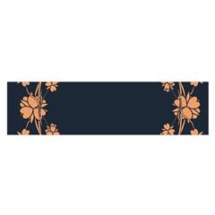 Floral Vintage Royal Frame Pattern Satin Scarf (oblong)