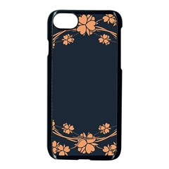 Floral Vintage Royal Frame Pattern Apple Iphone 7 Seamless Case (black)
