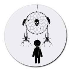 Voodoo Dream Catcher  Round Mousepads