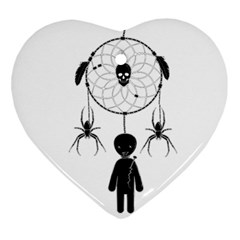 Voodoo Dream Catcher  Ornament (heart)