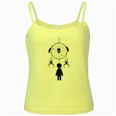 Voodoo Dream Catcher  Yellow Spaghetti Tank