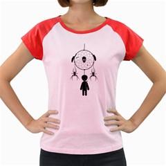 Voodoo Dream Catcher  Women s Cap Sleeve T Shirt