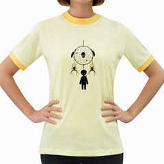 Voodoo Dream Catcher  Women s Fitted Ringer T Shirts