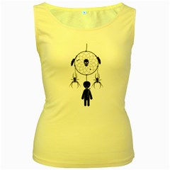 Voodoo Dream Catcher  Women s Yellow Tank Top