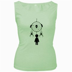 Voodoo Dream Catcher  Women s Green Tank Top