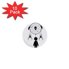 Voodoo Dream Catcher  1  Mini Buttons (10 Pack)