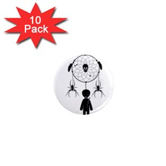 Voodoo Dream Catcher  1  Mini Magnet (10 Pack)