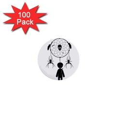 Voodoo Dream Catcher  1  Mini Buttons (100 Pack)