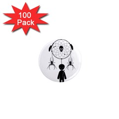 Voodoo Dream Catcher  1  Mini Magnets (100 Pack)
